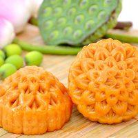 Bánh Trung Thu Dinh Dưỡng BIBICA Đậu Xanh Gấc 0 Trứng 150g – 10