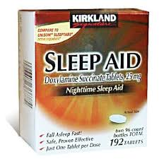 Kirkland Sleeping Aid Doxylamine Succinate Tablets 25mg.Hộp 192 viên