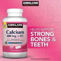 Thuốc Bổ Sung Canxi Kirkland Calcium 600mg + D3 – Bổ sung canxi cho cả nhà. Hộp 500viên