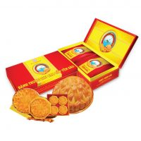Bánh Trung Thu cao cấp Yến Sào Khánh Hòa hộp 2 bánh 120g( 2 nhân mềm )