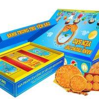 Bánh Trung Thu cao cấp Yến Sào Khánh Hòa hộp trẻ em  120g ( 1 thập cẩm-1 mềm)